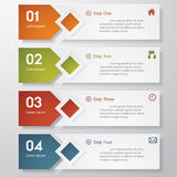 Design clean number banners template. Stock Photography