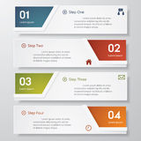 Design clean number banners template. Stock Photos