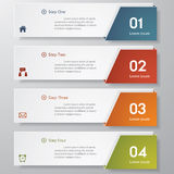 Design clean number banners template. Royalty Free Stock Image