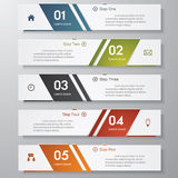 Design clean number banners template/graphic. Vector. Stock Photos