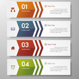 Design clean number banners template/graphic. Vector. Royalty Free Stock Photography
