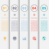 Design clean number banners template/graphic or webs Royalty Free Stock Images