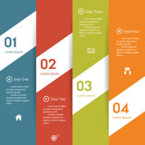 Design clean number banners template. Royalty Free Stock Photos