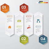 Design clean number banners template Royalty Free Stock Image