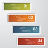 Design clean number banners template Stock Photography