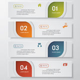 Design clean number banners template Royalty Free Stock Images