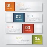 Design clean number banners template Royalty Free Stock Photos