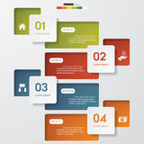 Design clean number banners template Stock Photo