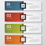 Design clean number banners template. /graphic or website layout. Vector Royalty Free Stock Photos