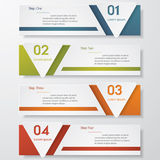 Design clean number banners template Royalty Free Stock Photo