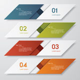 Design clean number banners template Royalty Free Stock Photography