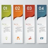 Design clean number banners template. /graphic or website layout. Vector Royalty Free Stock Photography
