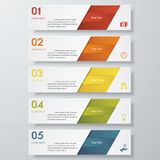 Design clean number banners template Stock Images