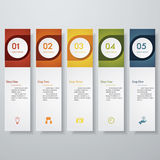 Design clean number banners template Stock Photos