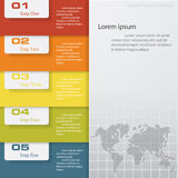 Design clean number banners template Stock Image