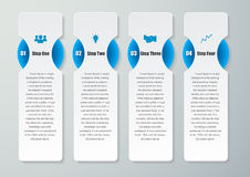 Design clean number banners template.graphic or website layout. Royalty Free Stock Photos