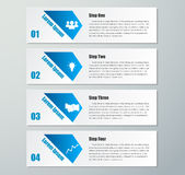Design clean number banners template.graphic or website layout. Stock Images