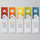 Design clean number banners template/graphic or website layout. Vector. EPS 10 Royalty Free Stock Photos