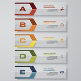 Design clean number banners template. Vector. 5 steps. Design clean number banners template/graphic or website layout. Vector Royalty Free Illustration