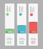 Design clean number banners template/graphic or website layout. Vector. Infographic design Stock Images