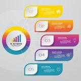 5 steps process. Simple&Editable abstract design element. Design clean number banners template/graphic or website layout. Vector vector illustration