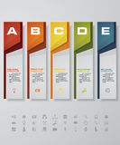 Design clean number banners template. with set of business icons. Royalty Free Stock Photos