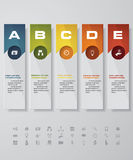 Design clean number banners template. with set of business icons. Stock Photos