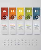 Design clean number banners template. with set of business icons. Stock Image