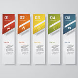 Design clean number banners template. 5 steps. Vector. Design clean number banners template/graphic or website layout. 5 steps. Vector Stock Photos
