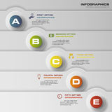 Design clean number banners template. 5 steps vector for infographic. 5 steps vector for infographic. Template for diagram. EPS10 Stock Photo