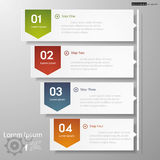 Design clean number banners template/timeline. Royalty Free Stock Images