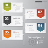 Design clean number banners template/timeline. Royalty Free Stock Photography