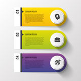 Design clean number banners template. Vector Royalty Free Stock Image