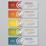 Design clean number banners template. Vector. EPS 10 stock illustration