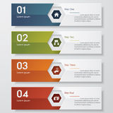 Design clean number banners template. Vector. Design clean number banners template/graphic or website layout. Vector Stock Images
