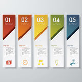 Design clean number banners template. Vector. Stock Images