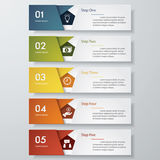 Design clean number banners template. Vector. Royalty Free Stock Photography