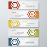 Design clean number banners template. Vector. Royalty Free Stock Photos