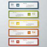 Design clean number banners template. Vector. Stock Image
