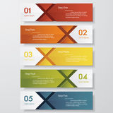 Design clean number banners template. Vector. Design clean number banners template/graphic or website layout. Vector Royalty Free Stock Image