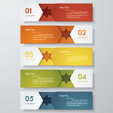 Design clean number banners template. Vector. Stock Photography