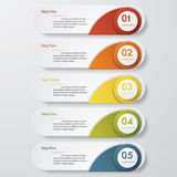 Design clean number banners template. Vector. Design clean number banners template/graphic or website layout. Vector Royalty Free Stock Photo