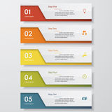 Design clean number banners template. Vector. Design clean number banners template/graphic or website layout. Vector Royalty Free Stock Photography