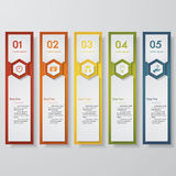 Design clean number banners template. Vector. Stock Photo