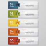 Design clean number banners template. Vector. Royalty Free Stock Images