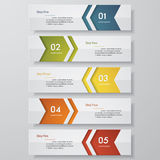 Design clean number banners template. Vector. Design clean number banners template/graphic or website layout. Vector Royalty Free Stock Photos