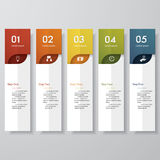 Design clean number banners template. Vector. Stock Photos