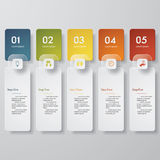 Design clean number banners template. Vector. Royalty Free Stock Photo