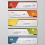Design clean number banners template. Vector. Design clean number banners template/graphic or website layout. Vector Royalty Free Stock Images