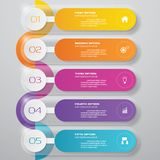 Design clean number banners template. Vector. 5 steps. Design clean number banners template/graphic or website layout. Vector vector illustration